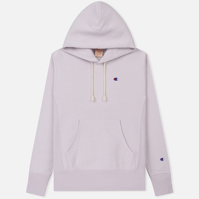 Мужская толстовка Champion Reverse Weave Hooded Logo Patch To The Chest And Sleeve Lavender