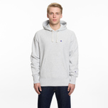 Мужская толстовка Champion Reverse Weave Hooded Logo Patch To The Chest And Sleeve Light Grey фото- 5