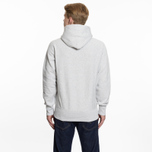 Мужская толстовка Champion Reverse Weave Hooded Logo Patch To The Chest And Sleeve Light Grey фото- 6