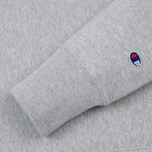 Мужская толстовка Champion Reverse Weave Hooded Logo Patch To The Chest And Sleeve Light Grey фото- 3