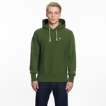 Мужская толстовка Champion Reverse Weave Hooded Logo Patch To The Chest And Sleeve Military Green фото- 5