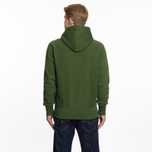 Мужская толстовка Champion Reverse Weave Hooded Logo Patch To The Chest And Sleeve Military Green фото- 6