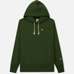 Мужская толстовка Champion Reverse Weave Hooded Logo Patch To The Chest And Sleeve Military Green фото- 0