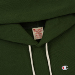Мужская толстовка Champion Reverse Weave Hooded Logo Patch To The Chest And Sleeve Military Green фото- 1