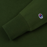 Мужская толстовка Champion Reverse Weave Hooded Logo Patch To The Chest And Sleeve Military Green фото- 3