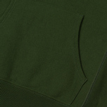 Мужская толстовка Champion Reverse Weave Hooded Logo Patch To The Chest And Sleeve Military Green фото- 4