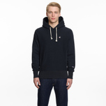Мужская толстовка Champion Reverse Weave Hooded Logo Patch To The Chest And Sleeve Navy фото- 5