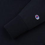 Мужская толстовка Champion Reverse Weave Hooded Logo Patch To The Chest And Sleeve Navy фото- 3