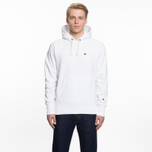 Мужская толстовка Champion Reverse Weave Hooded Logo Patch To The Chest And Sleeve White фото- 5