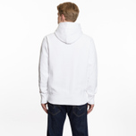 Мужская толстовка Champion Reverse Weave Hooded Logo Patch To The Chest And Sleeve White фото- 6