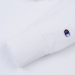 Мужская толстовка Champion Reverse Weave Hooded Logo Patch To The Chest And Sleeve White фото- 3