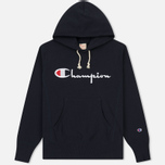 Мужская толстовка Champion Reverse Weave Hooded Navy фото- 0