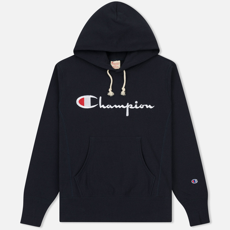 Мужская толстовка Champion Reverse Weave Hooded Navy