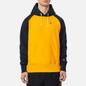 Мужская толстовка Champion Reverse Weave Hoodie Script Bicolor Zinc Yellow/Navy фото - 2