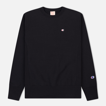 Мужская толстовка Champion Reverse Weave Icon Crew Neck Black