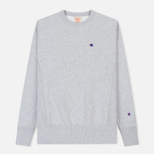 Мужская толстовка Champion Reverse Weave Icon Crew Neck Light Grey фото- 0