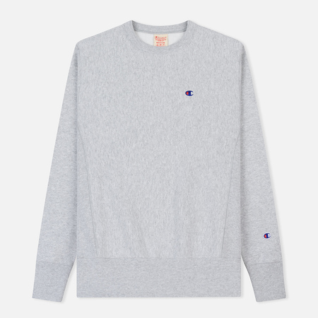 Мужская толстовка Champion Reverse Weave Icon Crew Neck Light Grey