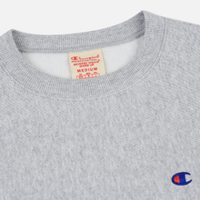 Мужская толстовка Champion Reverse Weave Icon Crew Neck Light Grey фото- 1