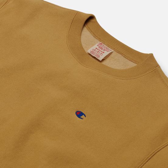 Мужская толстовка Champion Reverse Weave Logo Chest & Sleeve Crew Neck Beige