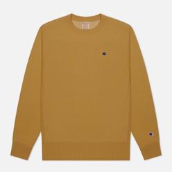 Мужская толстовка Champion Reverse Weave Logo Chest & Sleeve Crew Neck Beige