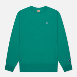 Мужская толстовка Champion Reverse Weave Logo Chest & Sleeve Crew Neck Bright Green
