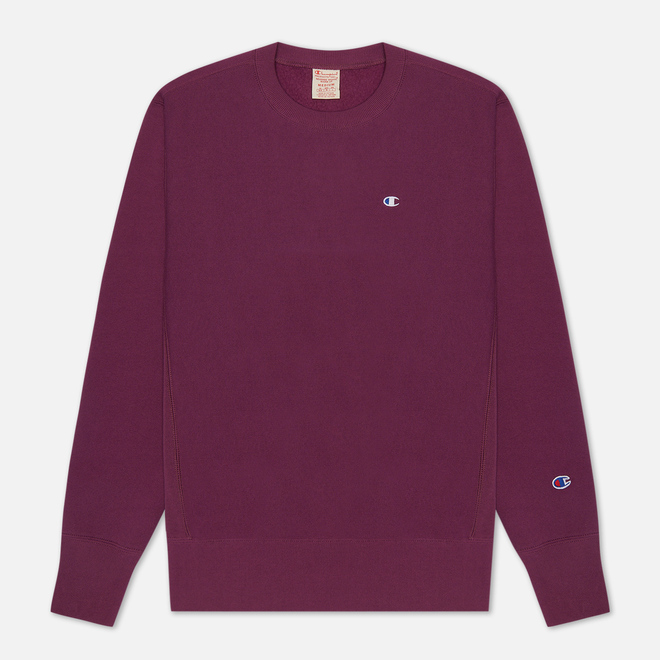 Мужская толстовка Champion Reverse Weave Logo Chest & Sleeve Crew Neck Maroon