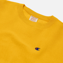 Мужская толстовка Champion Reverse Weave Logo Chest & Sleeve Crew Neck Zinc Yellow фото- 1