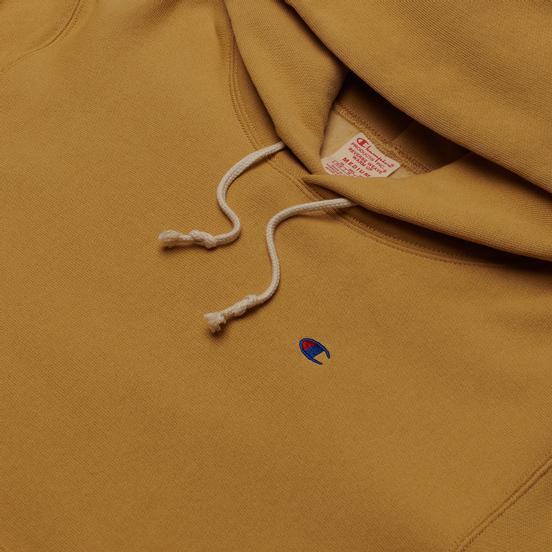 Мужская толстовка Champion Reverse Weave Logo Chest & Sleeve Hoodie Beige