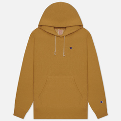 Мужская толстовка Champion Reverse Weave Logo Chest & Sleeve Hoodie Beige