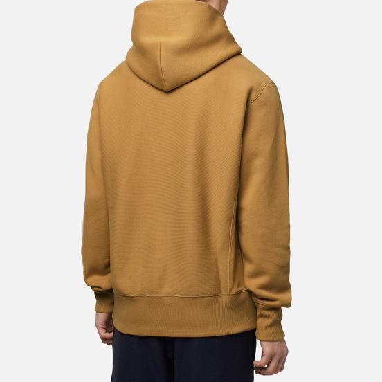 Мужская толстовка Champion Reverse Weave Logo Chest & Sleeve Hoodie Prairie Sand