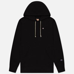 Мужская толстовка Champion Reverse Weave Logo Chest & Sleeve Hoodie Black