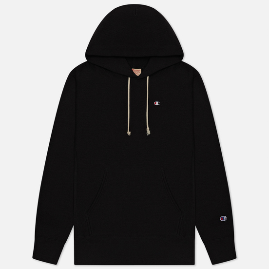 Мужская толстовка Champion Reverse Weave Logo Chest & Sleeve Hoodie Black