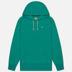 Мужская толстовка Champion Reverse Weave Logo Chest & Sleeve Hoodie Bright Green