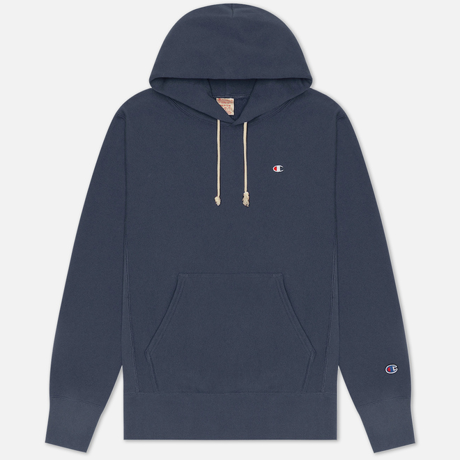 Мужская толстовка Champion Reverse Weave Logo Chest & Sleeve Hoodie Charcoal