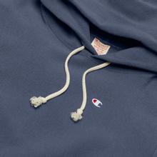 Мужская толстовка Champion Reverse Weave Logo Chest & Sleeve Hoodie Charcoal фото- 1