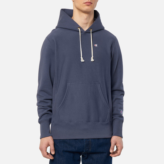 Мужская толстовка Champion Reverse Weave Logo Chest & Sleeve Hoodie Charcoal