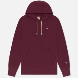 Мужская толстовка Champion Reverse Weave Logo Chest & Sleeve Hoodie Maroon
