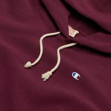 Мужская толстовка Champion Reverse Weave Logo Chest & Sleeve Hoodie Maroon фото- 1