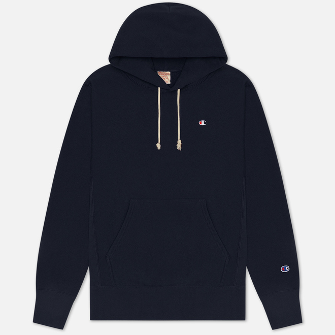 Мужская толстовка Champion Reverse Weave Logo Chest & Sleeve Hoodie Navy