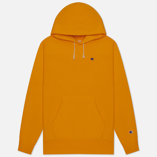 Мужская толстовка Champion Reverse Weave Logo Chest & Sleeve Hoodie Orange