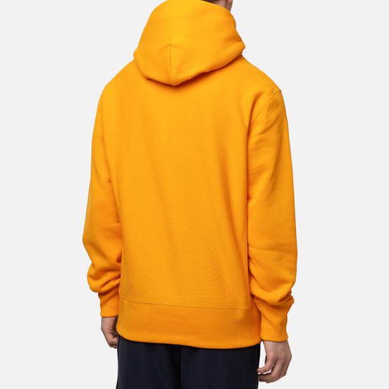 Мужская толстовка Champion Reverse Weave Logo Chest & Sleeve Hoodie Zinnia Orange