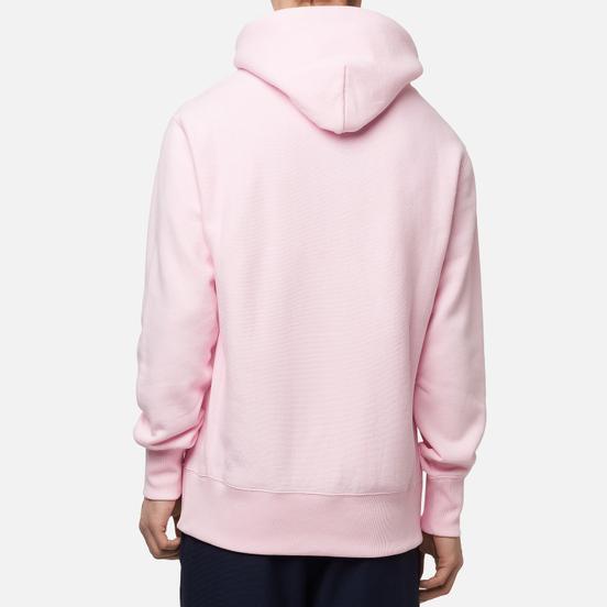 Мужская толстовка Champion Reverse Weave Logo Chest & Sleeve Hoodie Pink