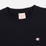 Champion Reverse Weave Logo Crew Neck Men's Sweatshirt Black photo- 1