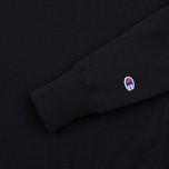 Champion Reverse Weave Logo Crew Neck Men's Sweatshirt Black photo- 2