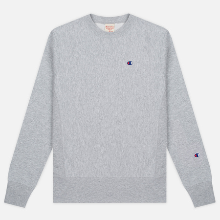 Мужская толстовка Champion Reverse Weave Logo Crew Neck Grey