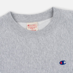 Мужская толстовка Champion Reverse Weave Logo Crew Neck Grey фото- 1
