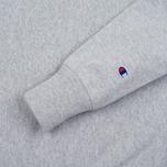 Мужская толстовка Champion Reverse Weave Logo Crew Neck Grey фото- 2