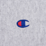 Мужская толстовка Champion Reverse Weave Logo Crew Neck Grey фото- 3