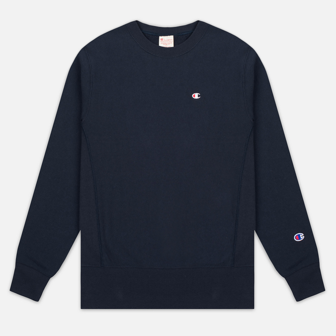 Мужская толстовка Champion Reverse Weave Logo Crew Neck Navy