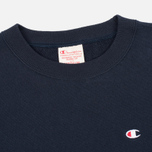 Мужская толстовка Champion Reverse Weave Logo Crew Neck Navy фото- 1